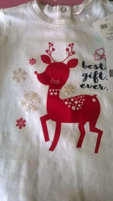 bluzka koszulka coccodrillo NOWA z metką święta świąteczna rozm 80