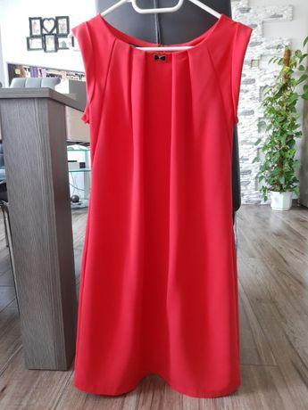 Sukienka malinowa, prosta. Rozm. L/XL