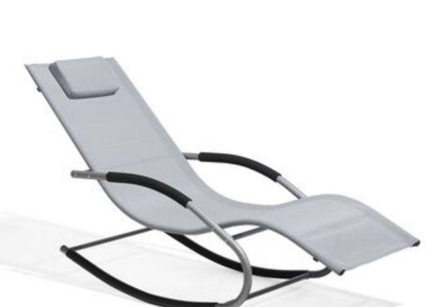 Cadeira de baloiço para jardim em cinzento Belliani