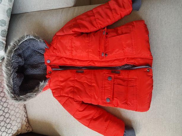 Czerwona kurtka Pepco zimowa bardzo ciepła rozm. 98 jak nowa