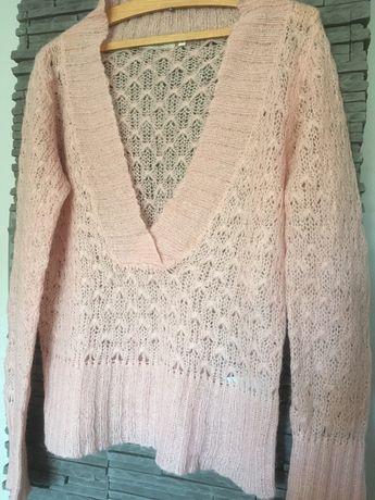Cienki różowy sweter rozm 38