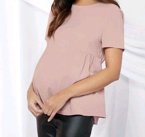 Bluzka ciążowa pudrowy róż