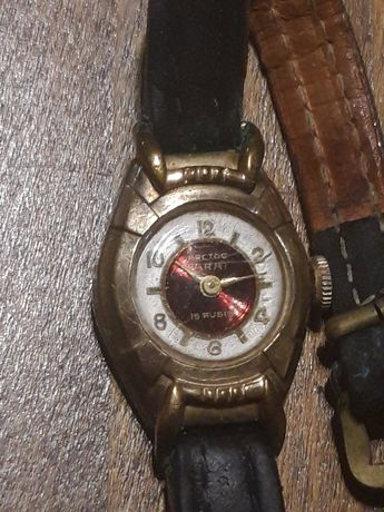 Stary damski zegarek Arctos Parat 15 Rubis Antyk pozłacany