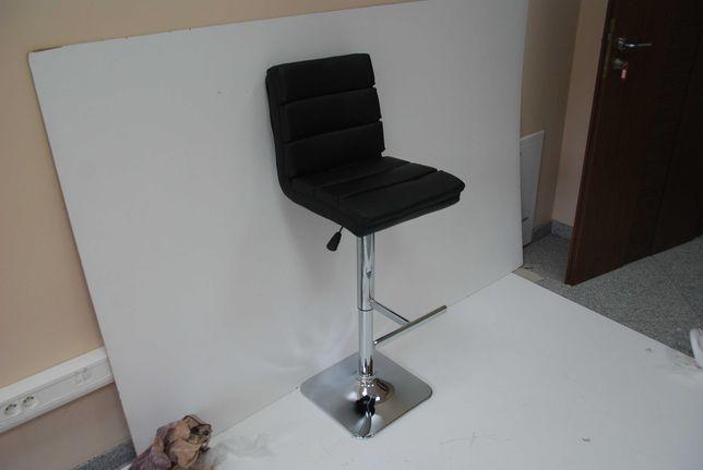 Hoker krzesło barowe Camparo czarne obrotowe do kuchni
