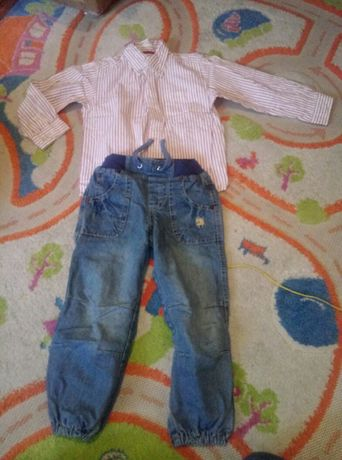 Koszula + dżinsy 98cm