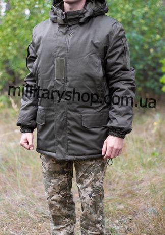 Бушлат/ Куртка зимняя военная олива. На флисе. НГУ. Тактическая.