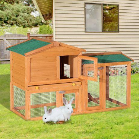 COELHEIRA CERCADO MADEIRA 145X46X85CM para galinhas/coelhos