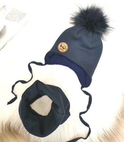 Зимний набор. Комплект шапка+хомут