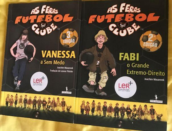 2 livros As Feras Futebol Clube