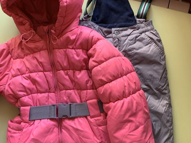 Теплый костюм на зиму комбинезон и куртка на рост 104+\-6 см