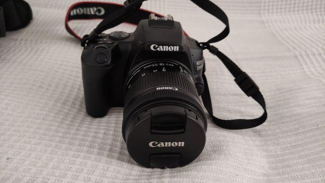 Canon EOS 250D + EF-S 18-55mm + Bolsa + Cartão Mem. + Tripé Zomei Q222
