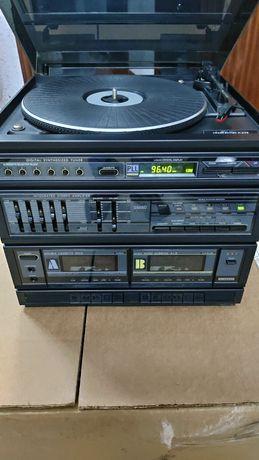 Gira discos aparelhagem antiga vintage SCHNEIDER rádio cassete antigo