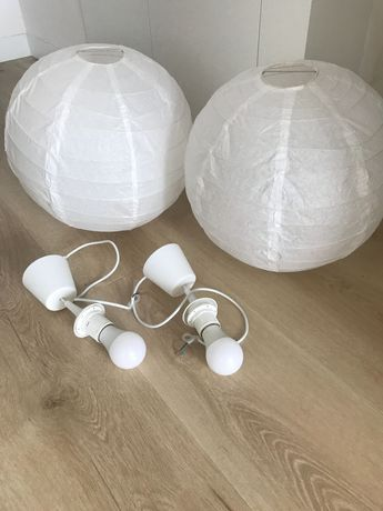 2 szt Lampy wiszące sufitowe z oprawa nowe śr. 40cm kinkiet żyrandol