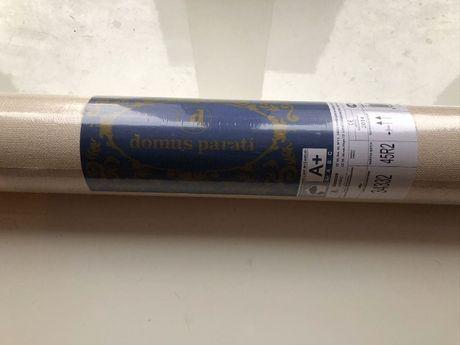 Продам обои Domus Parati 34332 18 рулонов Италия Бежевые Рогожка