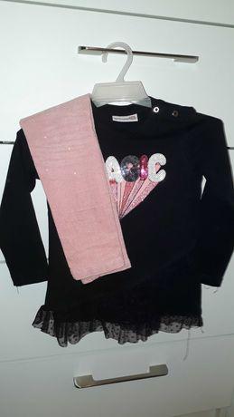 Komplet Coccodrillo 98 104 spodnie legginsy bluzeczka