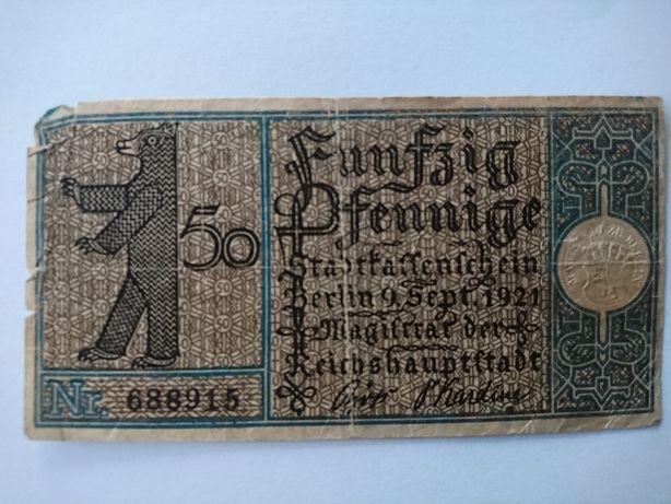 Berliński bilet komunikacyjny z 1921r.