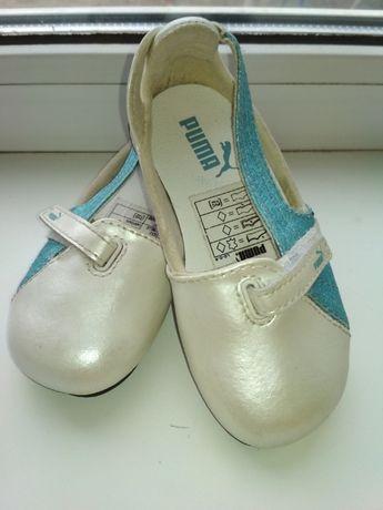 Продам детские кожаные туфли Puma