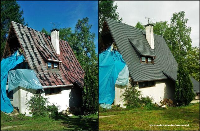 Malowanie, mycie dachów, malowanie impregnacja dachówki, wycinka drzew