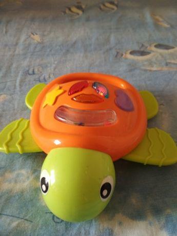 Развивающие погремушки игрушки Музыкальная черепаха и Микки Маус