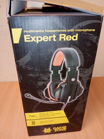 Słuchawki z mikrofonem Tracer Expert Red