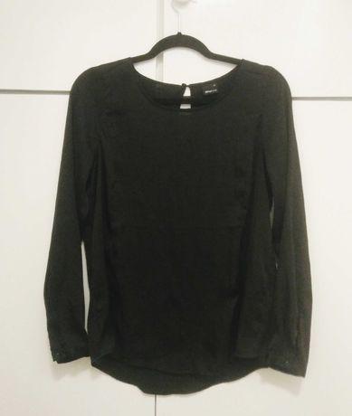 Gina tricot czarna bluzka satyna elegancka 34 XS