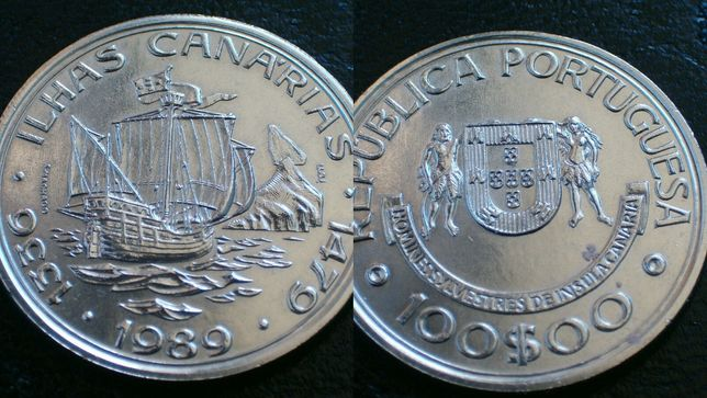 Moeda 100$00 - Ilhas Canarias / 1989