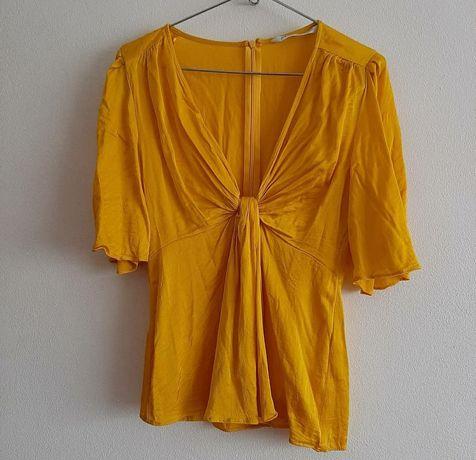 Blusa amarela da Zara