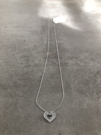 Celebrytka srebro 925 naszyjnik serduszko cyrkonia wysylka