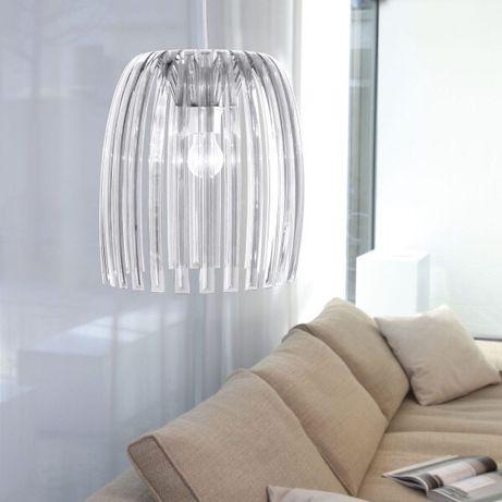 Żyrandol lampa przeźroczysta sople nowoczesny design