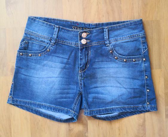 Krótkie spodenki, szorty jeansowe 38