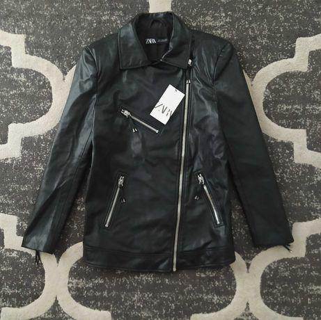 Nowa kurtka czarna ramoneska Zara S 36 oversize