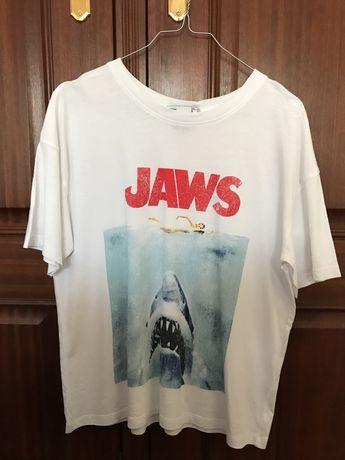 T-shirt Jaws da Lefties- tamanho S oversize