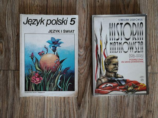 Podręczniki szkoła podstawowa do jezyka polskiego i historii