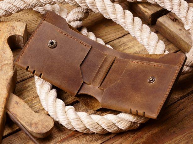 """Мужской кожаный кошелек модель""""Craft max"""".Стильный бумажник из кожи."""
