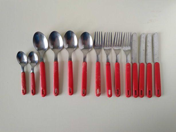 Набор столовые приборы вилки ножи ложки столовые и чайные 14 шт