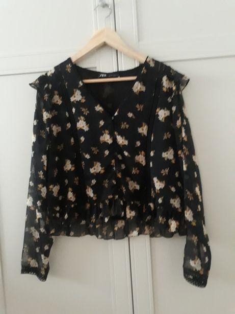 Bluzka Zara XL L szyfonowa idealna
