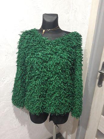 Sweterek kolor butelkowa zieleń