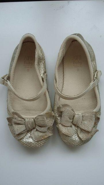 Buty Zara baby, buciki dla dziecka, dziecięce, baleriny r. 23