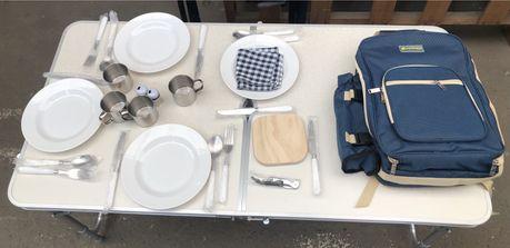 Терморюкзак с набором посуды для пикника на 4 персоны. Опт и розница
