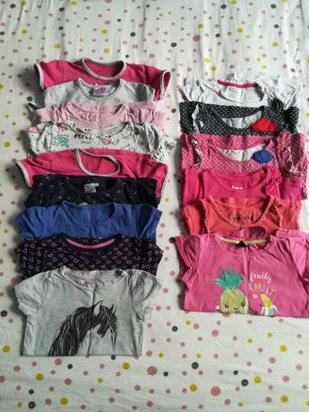 Koszulki krótki rękaw 98/104- 15 szt