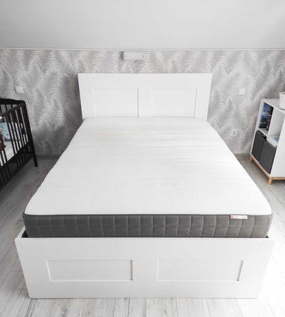 Łóżko Brimnes 140cm + materac+ zagłówek