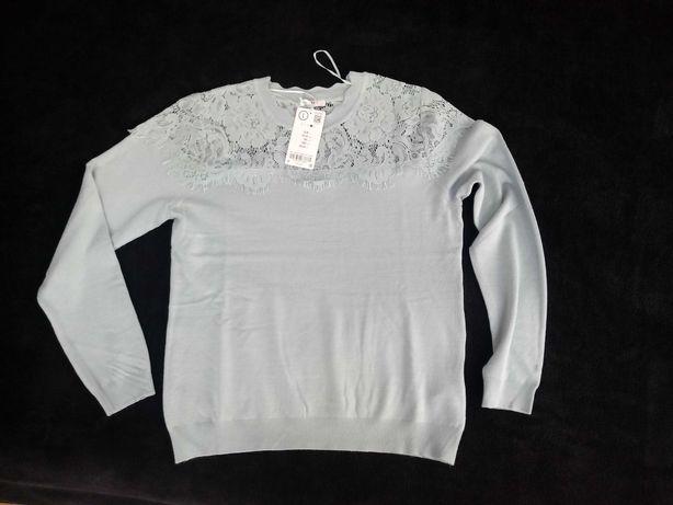 Sweter z koronka ORSAY