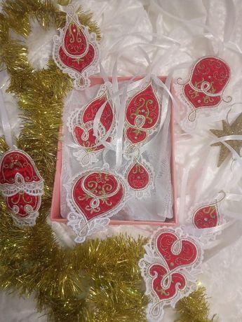 АКЦИЯ! 50% СКИДКИ. Новогодние ёлочные украшения, кружевные подвески