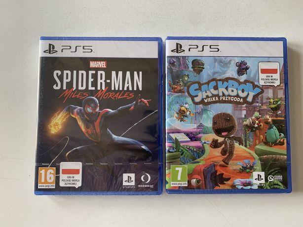 Nowe Sackboy PS5, Spiderman PS5 niedopakowane