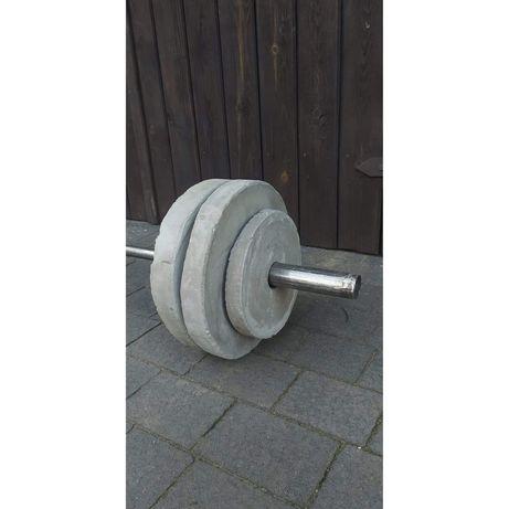 Zestaw obciążenie 56kg+ sztanga olimpijska, gryf 180cm, fi50, siłownia