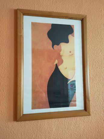 Duża drewniana rama na obraz bądź na lustro