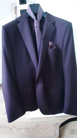 Garnitur męski w kolorze ciemnej śliwki