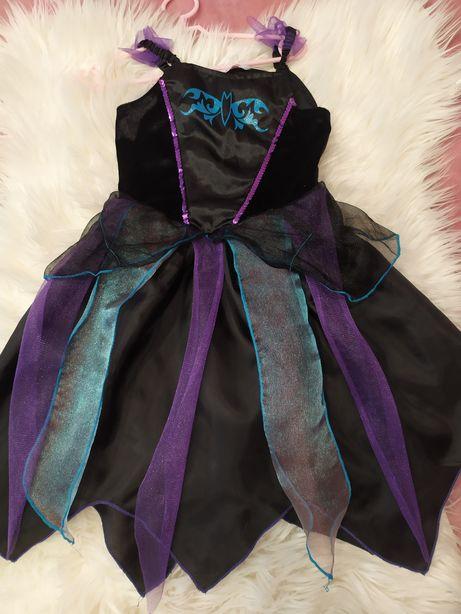 Sukienka na bal przebierańców karnawał wiedźma 110-116cm 5_6 lat