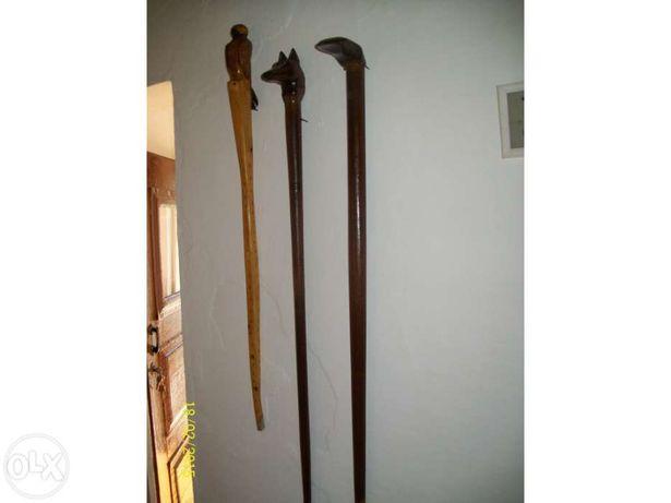 Bengalas esculpidas a mao