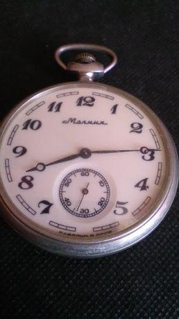 zegarki Molnija-statek kieszonkowy srebro-alpaka